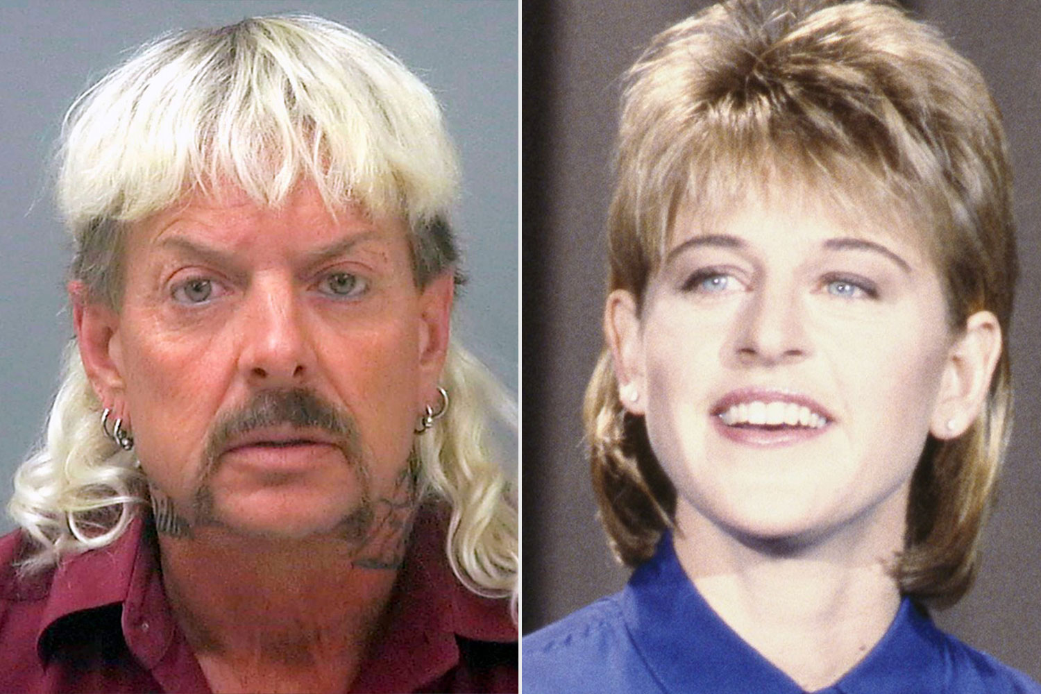 Ellen DeGeneres Hilariously Compares Her Former Mullet Hairstyle to Tiger King's Joe Exotic