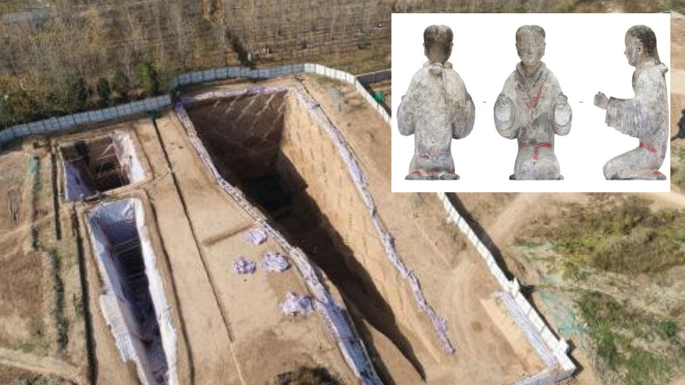 Ancient tombs and hundreds of objects dating back to 'golden age' in Chinese history unearthed at Silk Road origin
