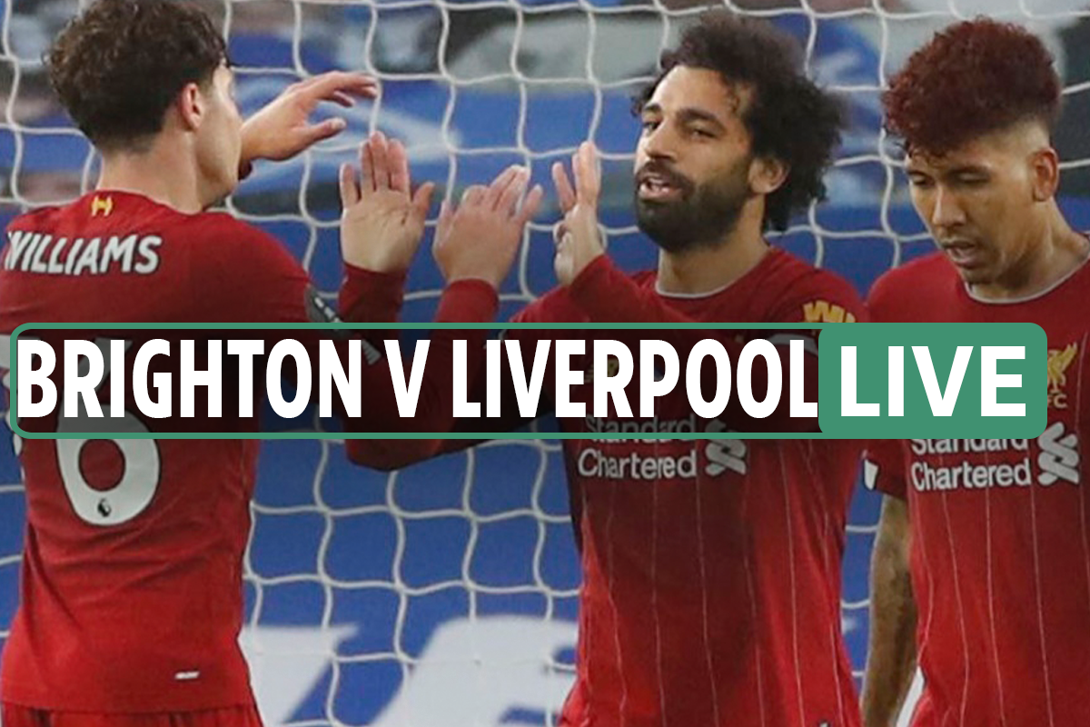Brighton 1-Three Liverpool LIVE: Stream, TV channel, kick off time, crew information for TONIGHT'S Premier League match