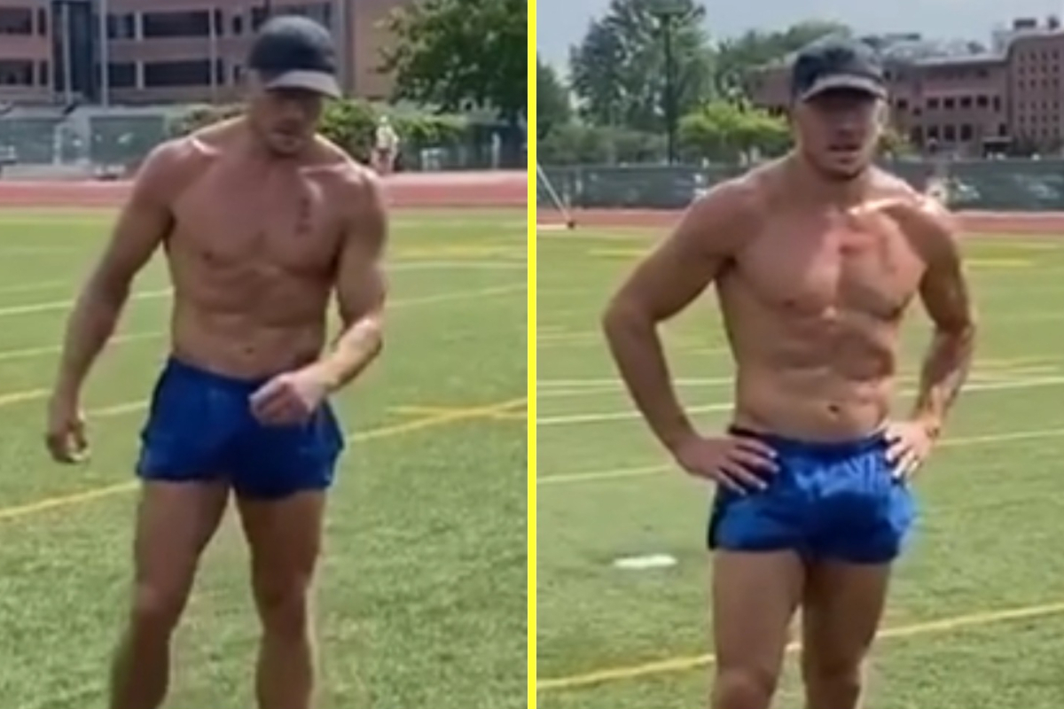 Georges St-Pierre shows leaner physique after astounding physique transformation as UFC drop big trace he may return to face Kamaru Usman