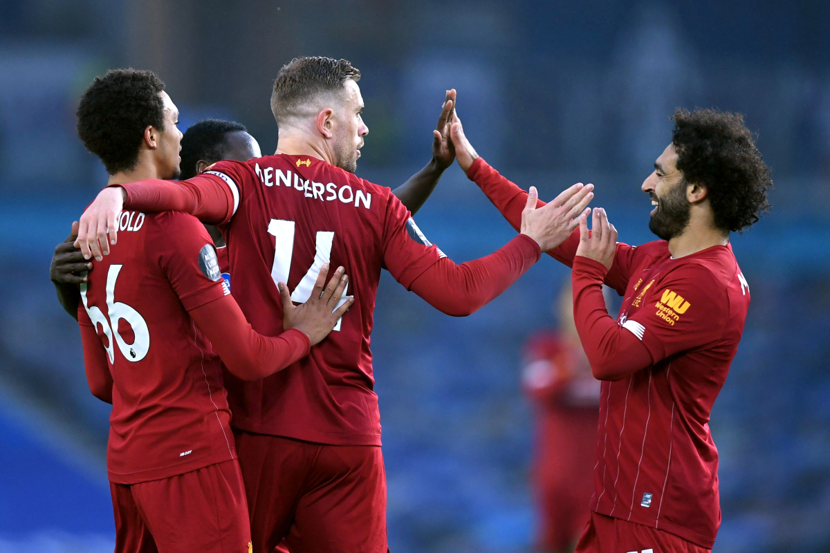 Liverpool declare first away win since February as Mohamed Salah double seals 3-1 victory at Brighton