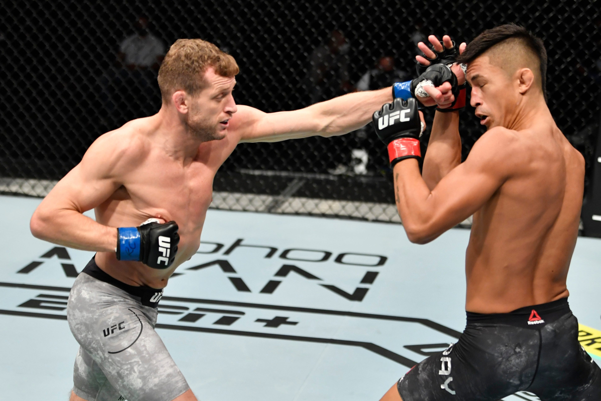 UFC fighter Davey Grant scores first KO on Combat Island after struggling a damaged jaw – earlier than asking Dana White for $50okay bonus