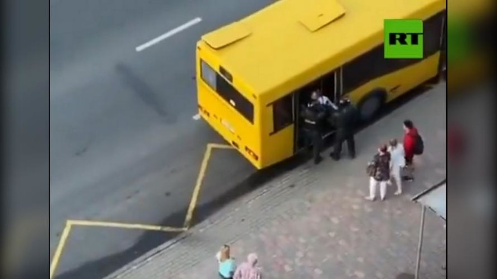 Oops: Belarus police nearly load arrested protester into CITY BUS by mistake