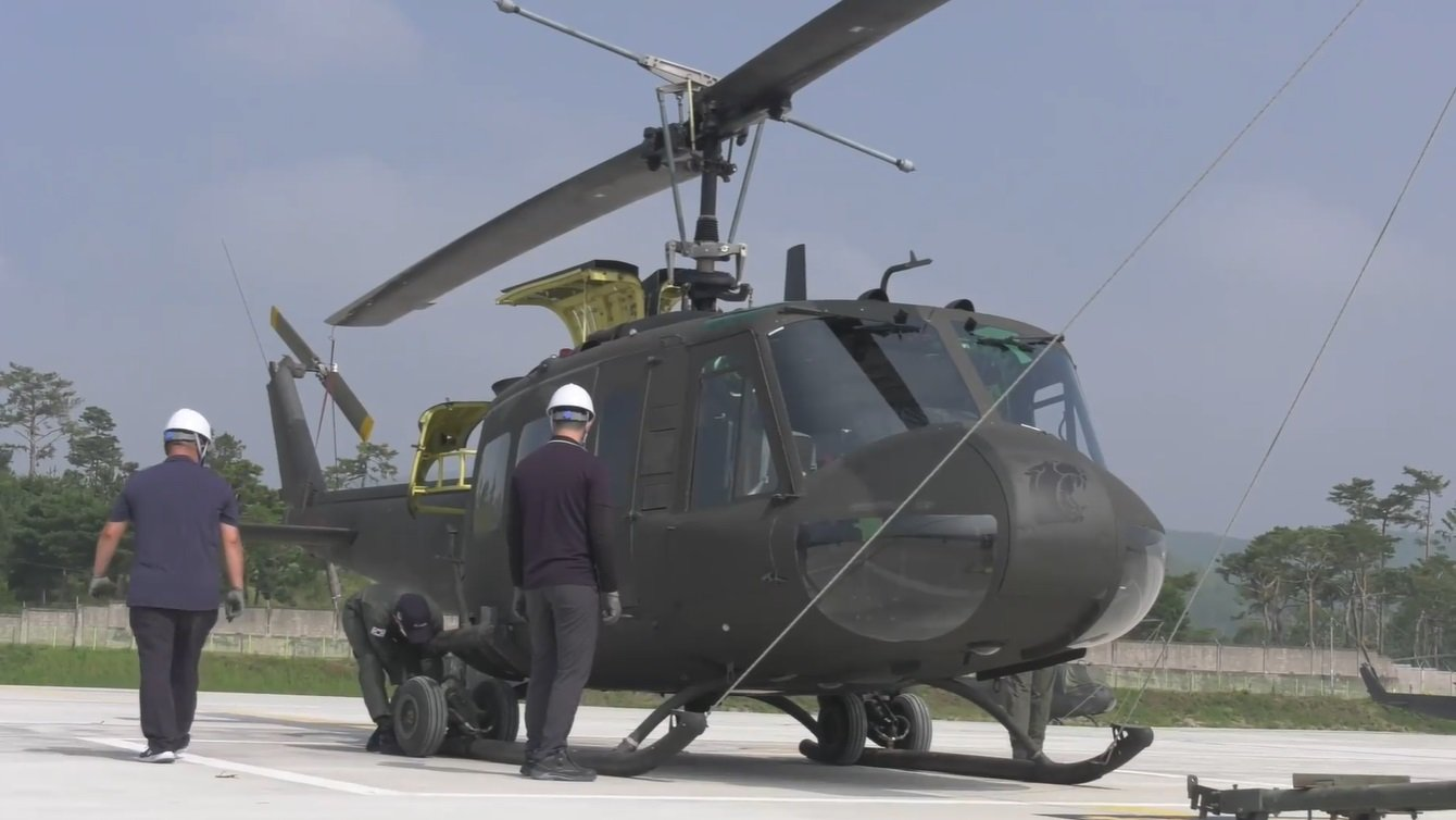South Korean navy retires its UH-1 Huey helicopters
