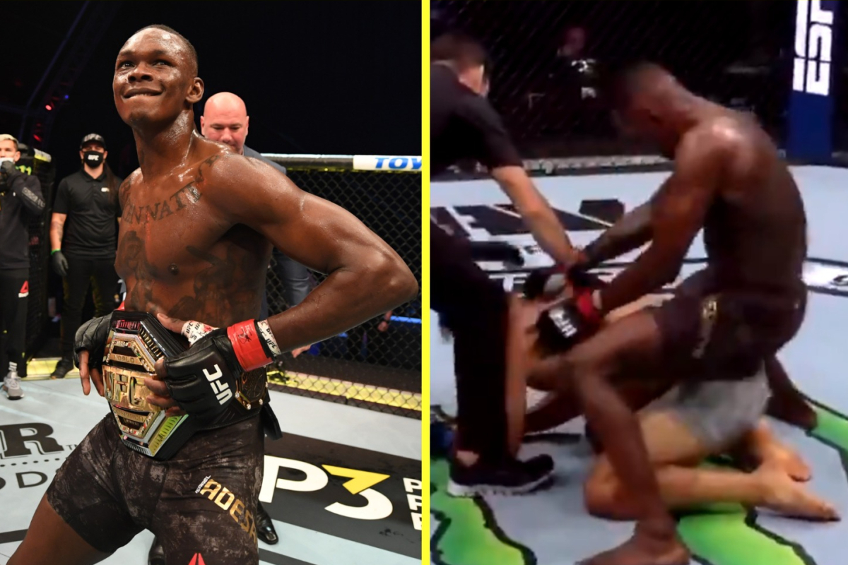 UFC 253 highlights: Israel Adesanya seems to 'hump' Paulo Costa moments after KO on Battle Island as he calls out Jared Cannonier