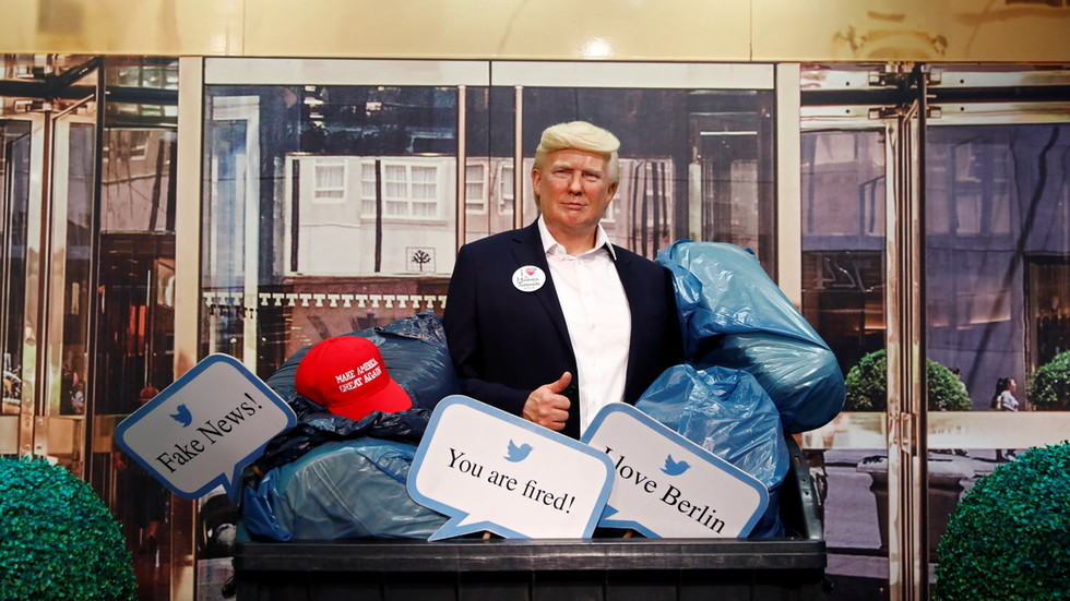 'Now do Mohammed': Cheers after Madame Tussauds in Berlin locations wax Trump in a dumpster… however not everyone seems to be impressed