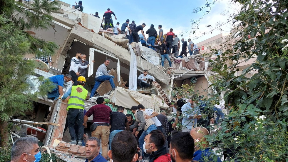 At least 22 people dead in Turkey after 7.0 quake hits Aegean Sea