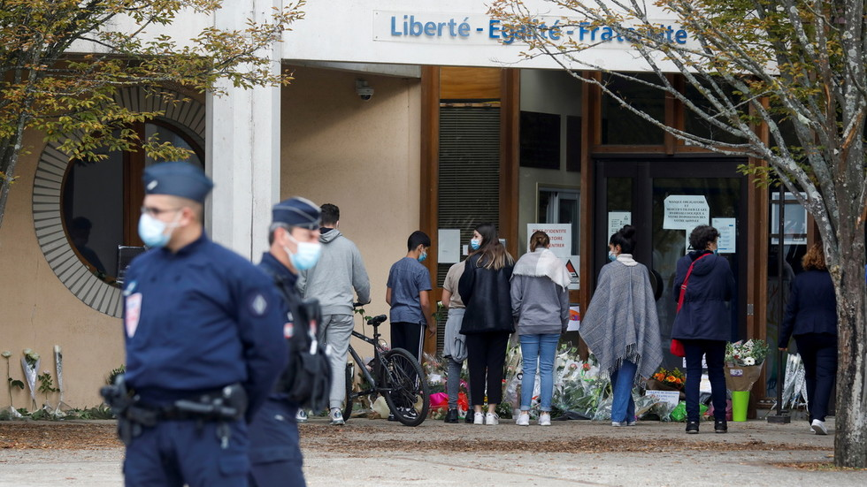 France to 'strengthen' control on funding of Islamist groups, finance minister says after teacher killed in terrorist attack