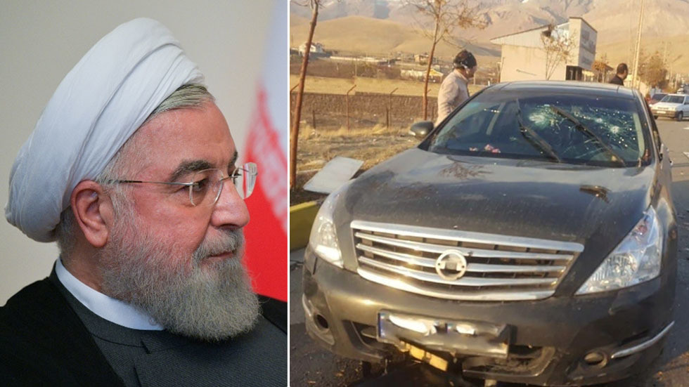 Iranian president factors finger at Israel after assassination of prime army scientist close to Tehran