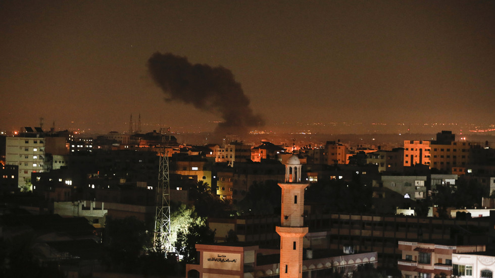 IDF strikes multiple 'terrorist targets' in Gaza in response to missiles fired into Israel on Christmas (VIDEOS)