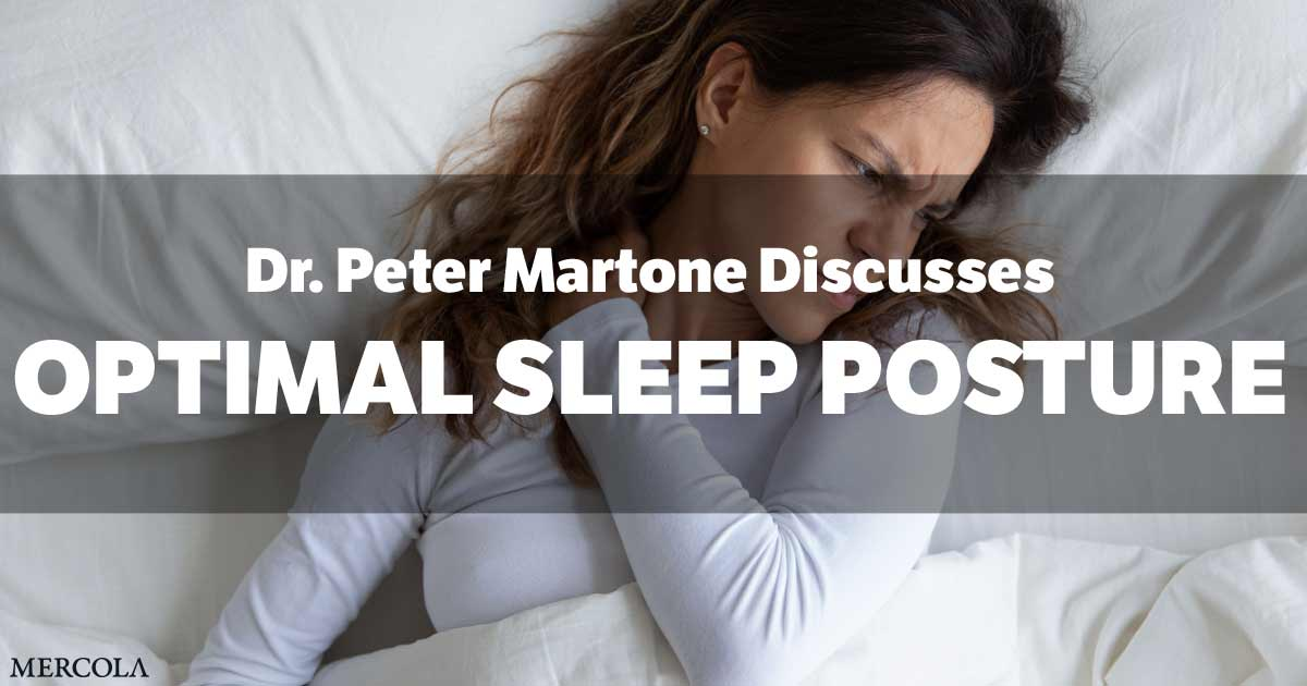 Address Sleep Posture to Optimize Cervical Spine and Health