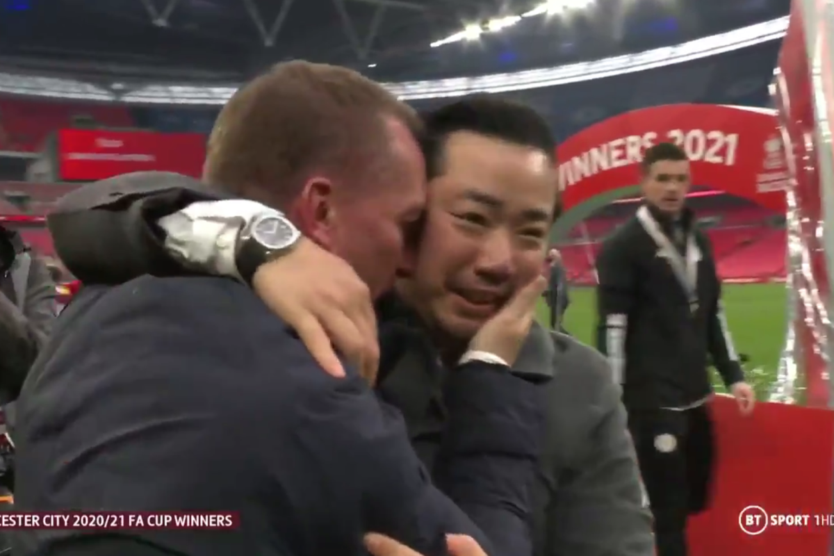 Brendan Rodgers and Khun Prime embrace as Leicester Metropolis have a good time FA Cup triumph – and the Premier League's different 'large six' house owners ought to take word